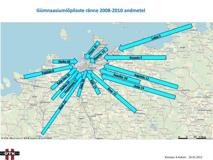 Gümnaasiumiõpilaste ränne 2008-2010 andmetel