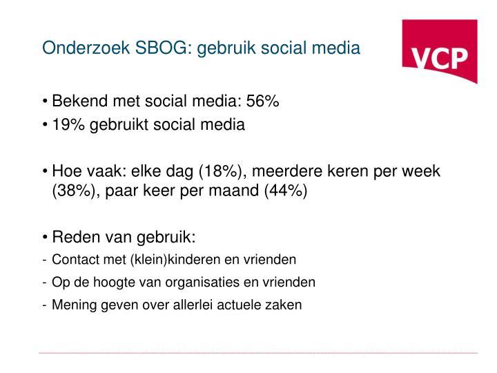 Onderzoek SBOG: gebruik social media
