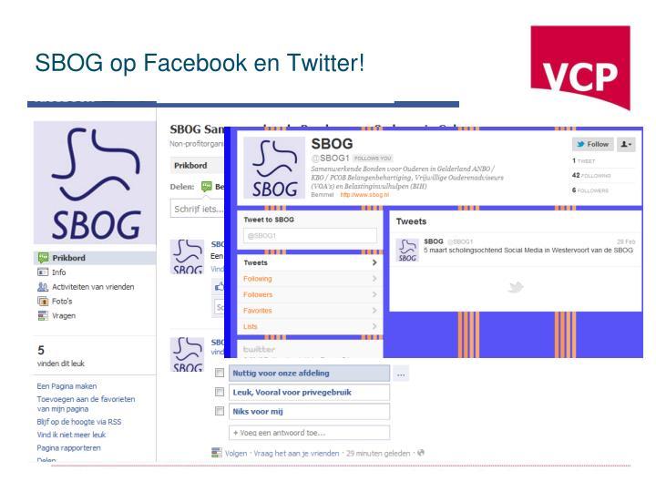 SBOG op Facebook en Twitter!