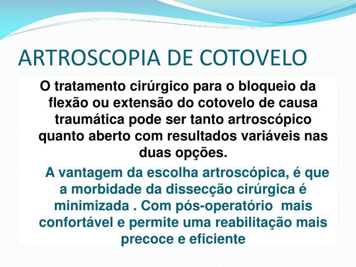 ARTROSCOPIA DE COTOVELO