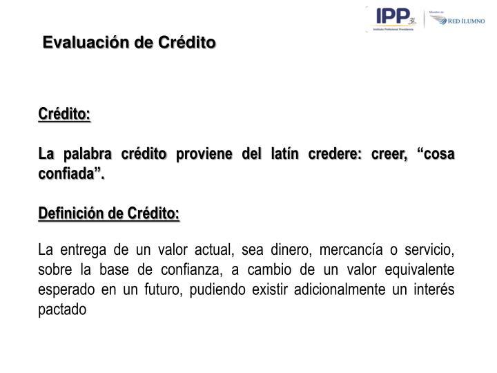 Evaluación de Crédito