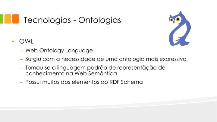 Tecnologias - Ontologias