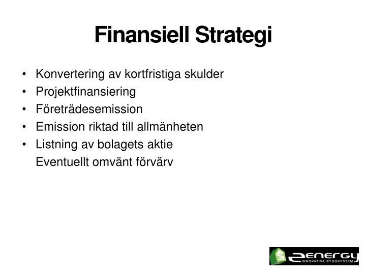 Finansiell Strategi