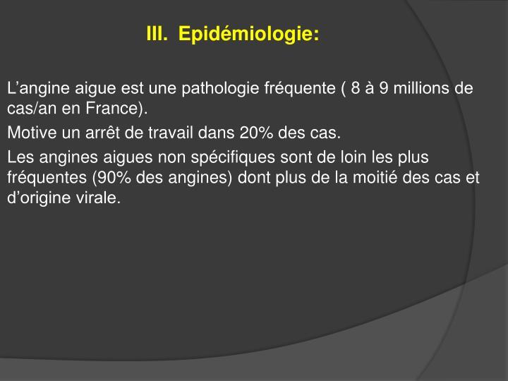 Epidémiologie: