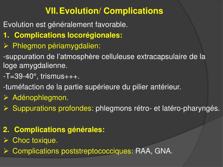 Evolution/ Complications