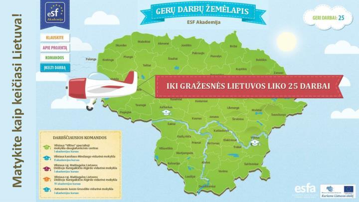 Matykite kaip keičiasi Lietuva!