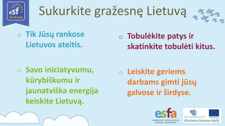 Sukurkite gražesnę Lietuvą