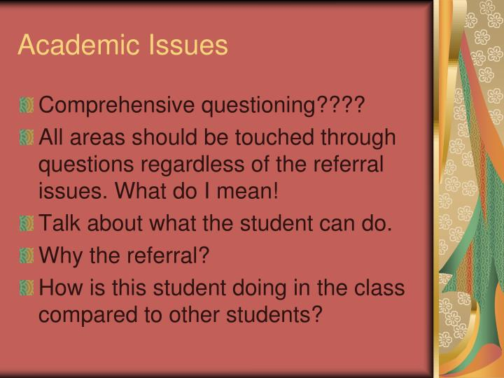 Academic Issues
