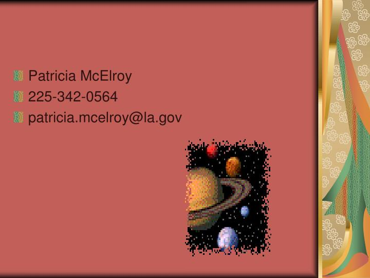Patricia McElroy