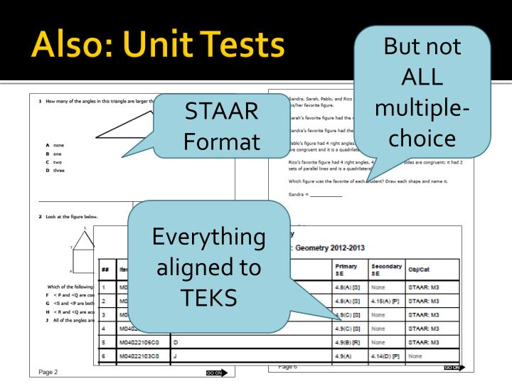 Also: Unit Tests