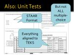 also unit tests