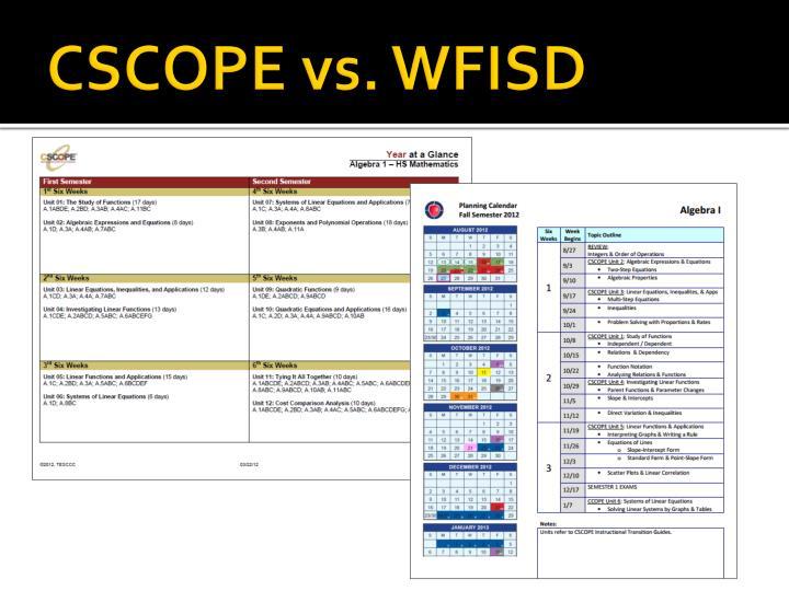 CSCOPE vs. WFISD