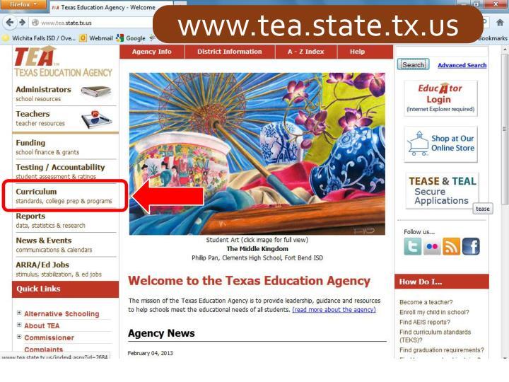 www.tea.state.tx.us