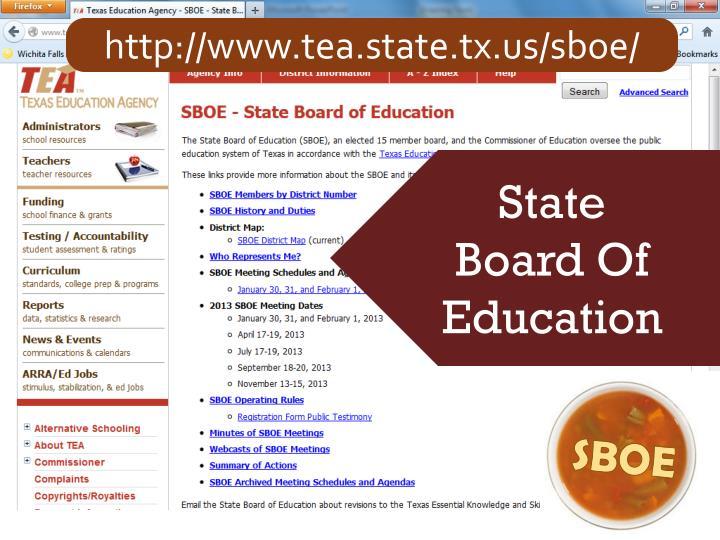http://www.tea.state.tx.us/sboe/