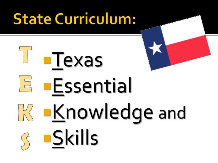 State Curriculum: