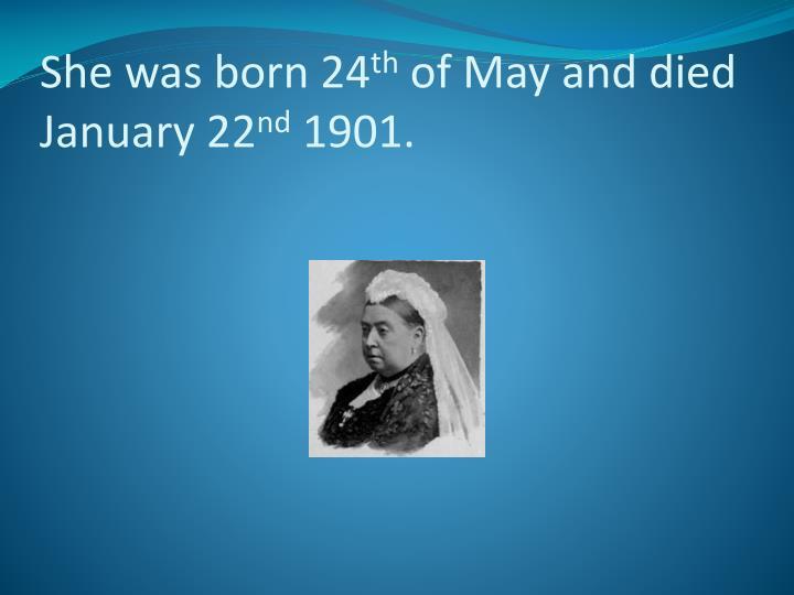 She was born 24