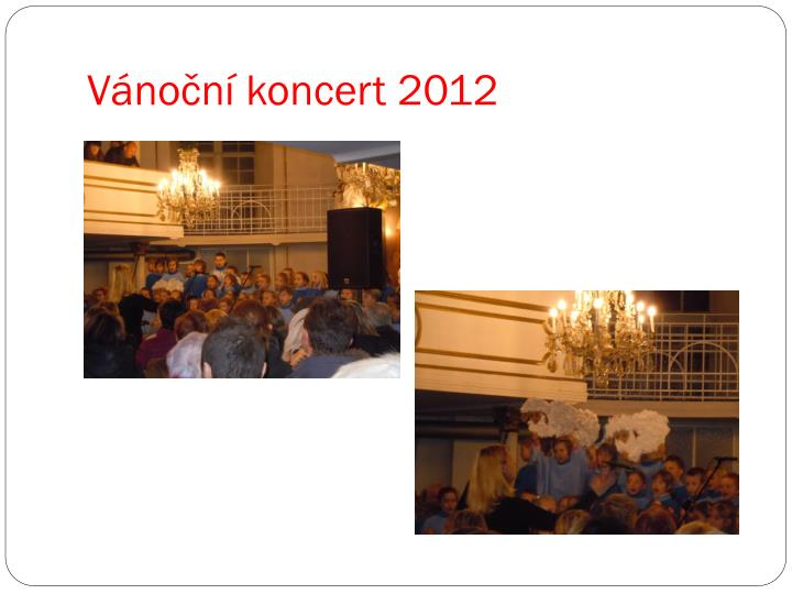 Vánoční koncert 2012