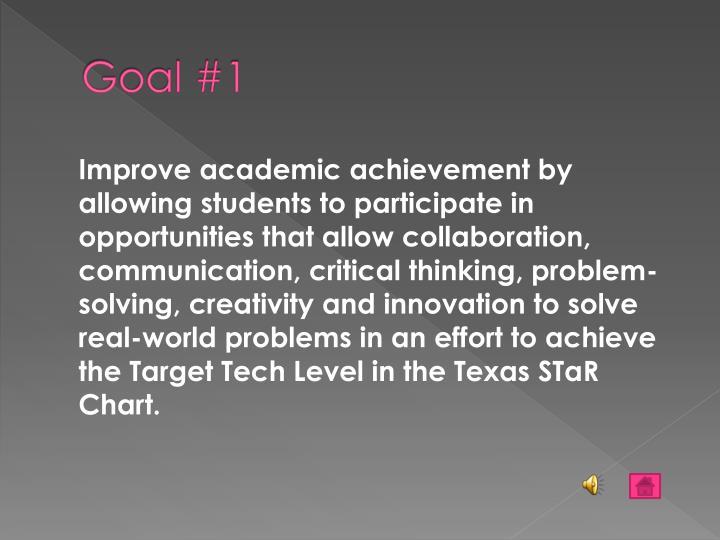 Goal #1