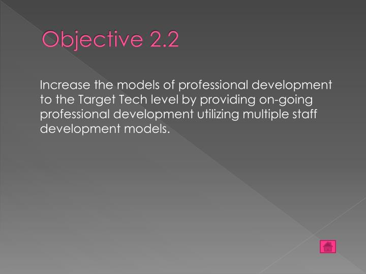 Objective 2.2