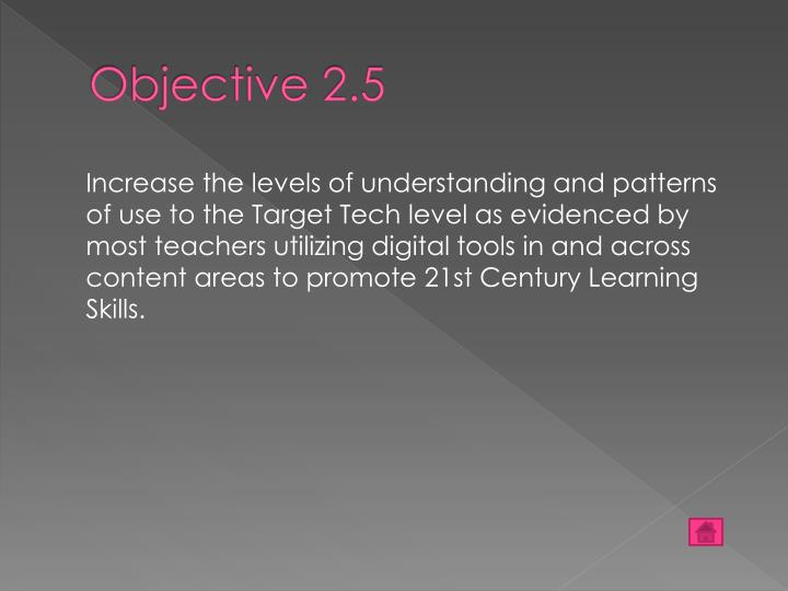 Objective 2.5
