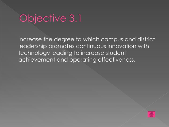 Objective 3.1