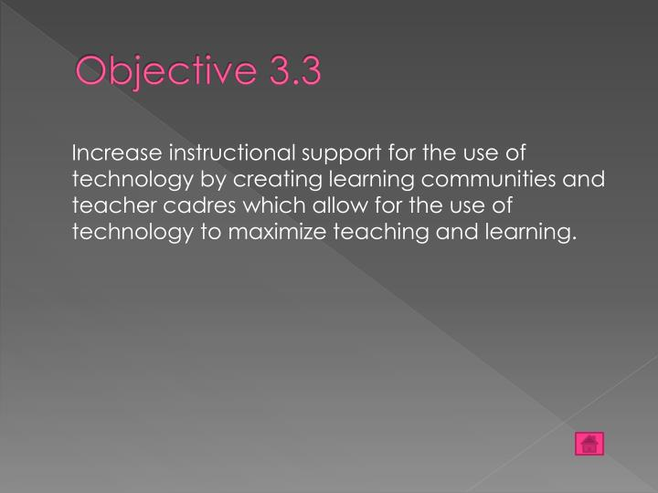 Objective 3.3