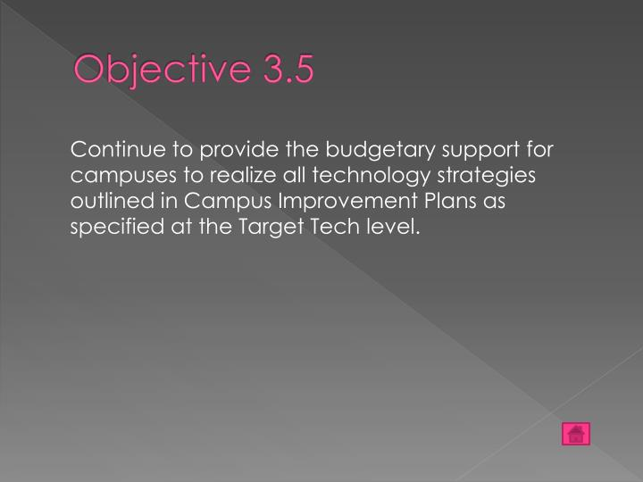 Objective 3.5