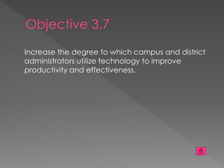 Objective 3.7