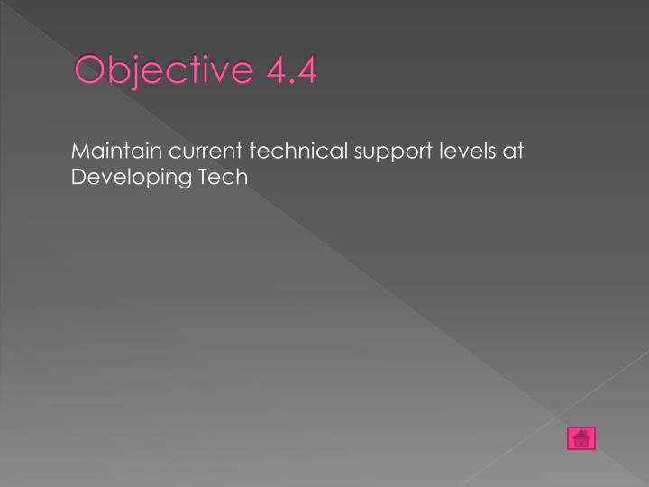Objective 4.4