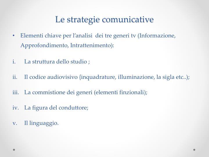 Le strategie comunicative
