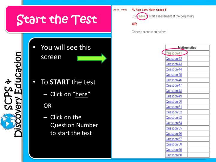 Start the Test