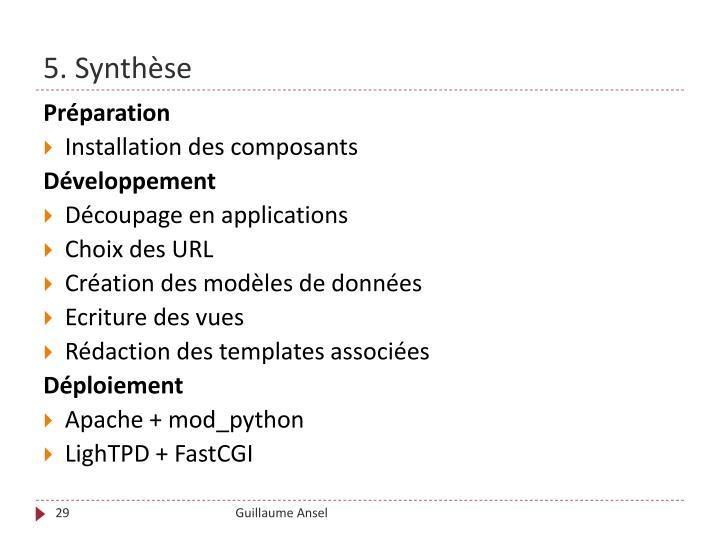 5. Synthèse