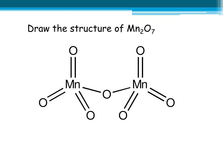 Draw the structure of Mn