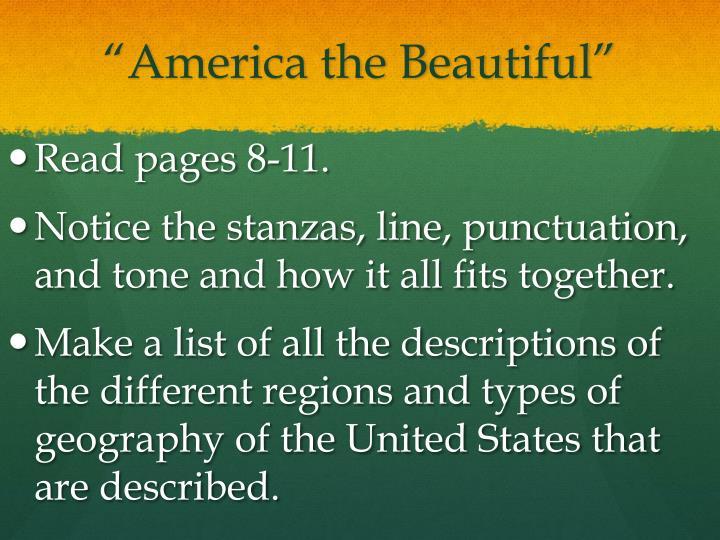 """America the Beautiful"""