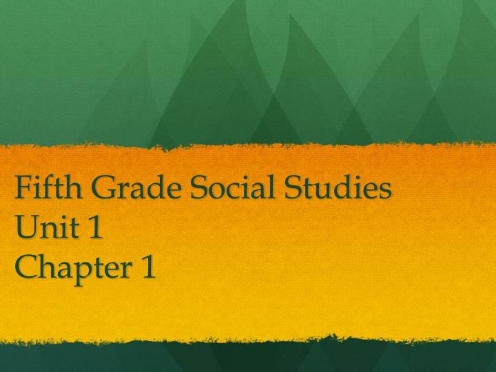 Fifth Grade Social Studies