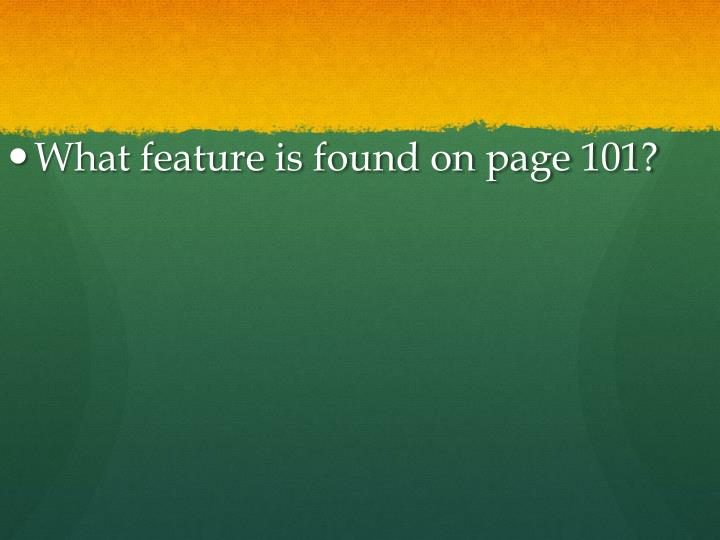 What feature is found on page 101?