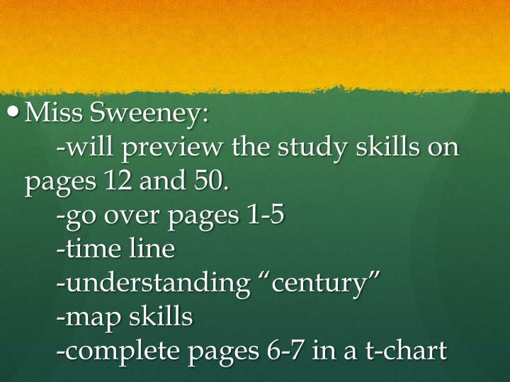 Miss Sweeney: