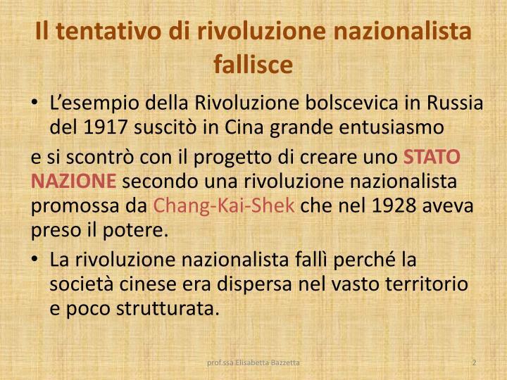 Il tentativo di rivoluzione nazionalista fallisce