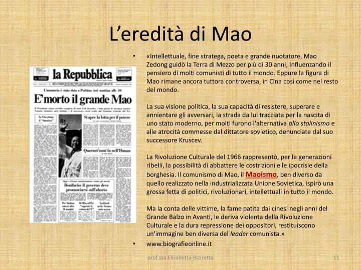 L'eredità di Mao