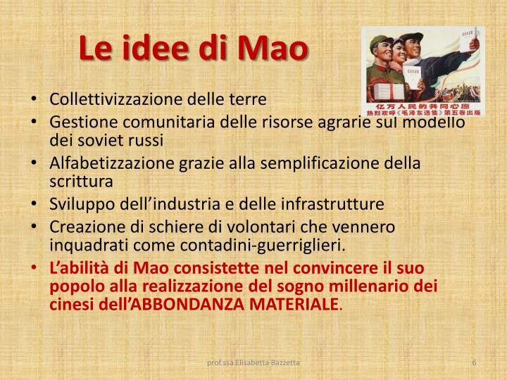 Le idee di Mao