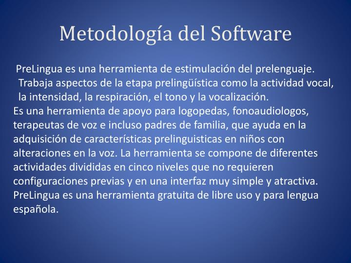 Metodolog a del software