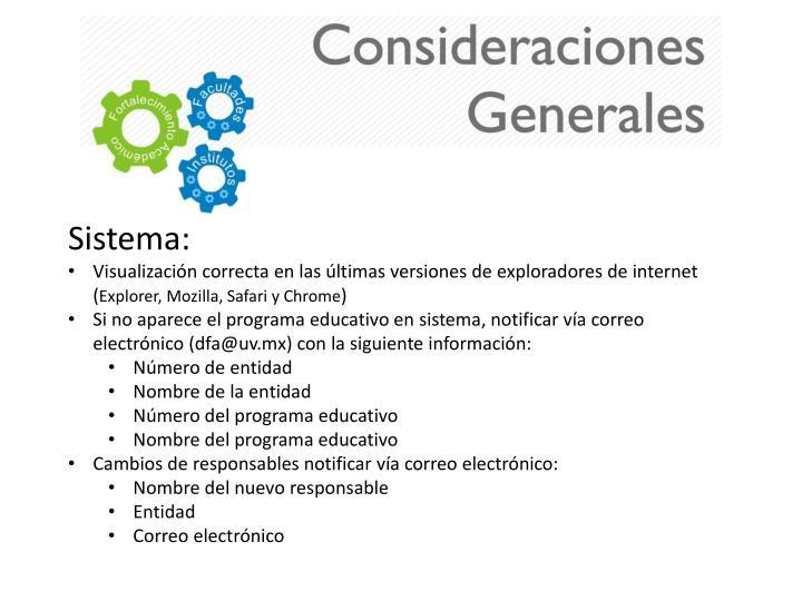 Sistema: