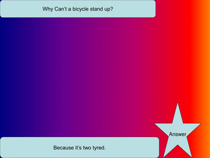 Why Can't a bicycle stand up?
