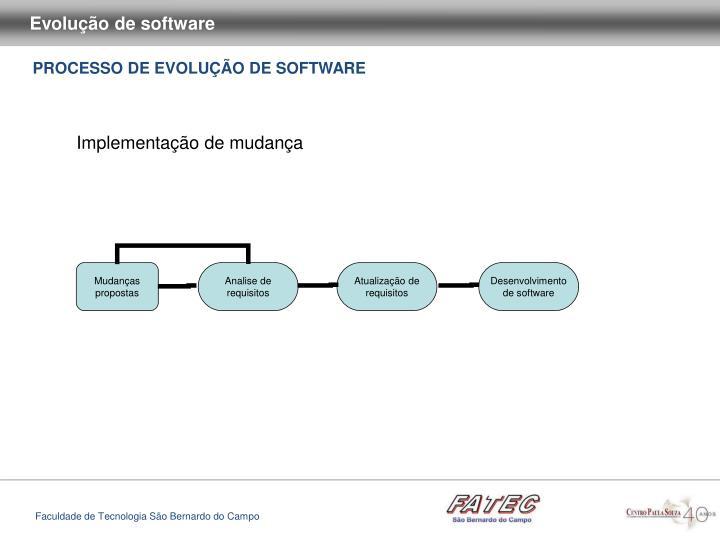 Evolução de software