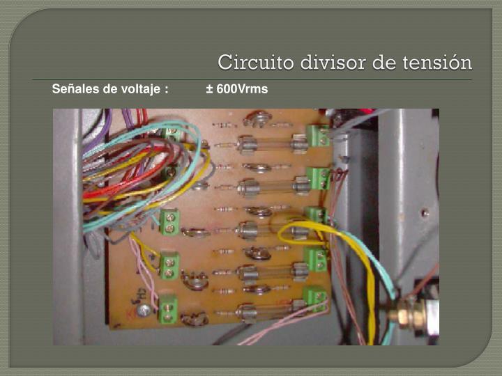 Circuito divisor de tensión