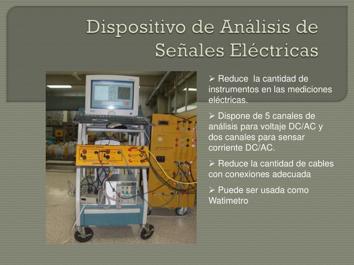 Dispositivo de Análisis de Señales Eléctricas