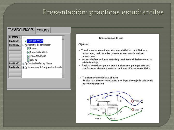 Presentación: prácticas estudiantiles