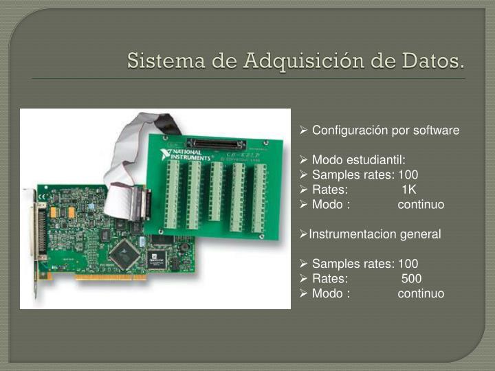 Sistema de Adquisición de Datos.