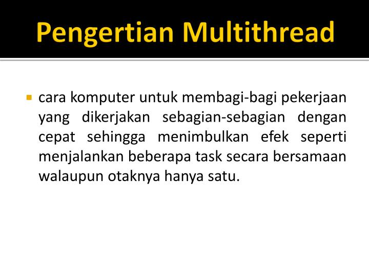 Pengertian multithread
