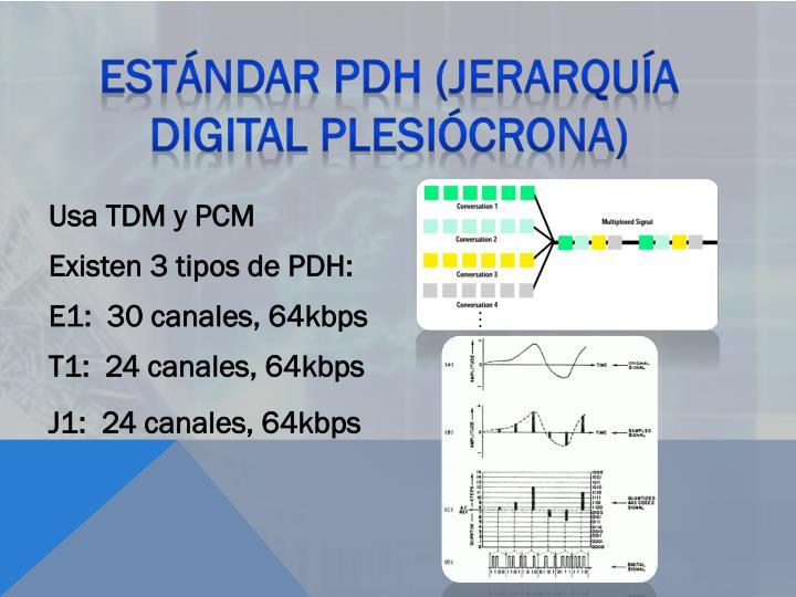 Estándar PDH (Jerarquía Digital